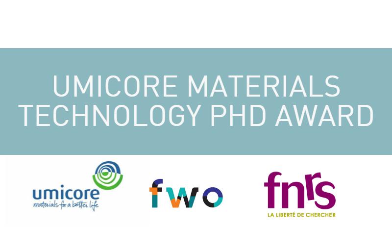 Prix Umicore technologie des matériaux 2017