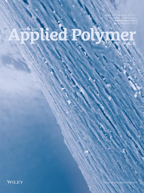 Publication parue au journal of Applied Polymer Science